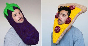 Crocheted Food Themed Hats