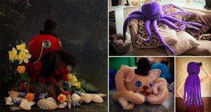 Crocheted Gentleman Octopuses