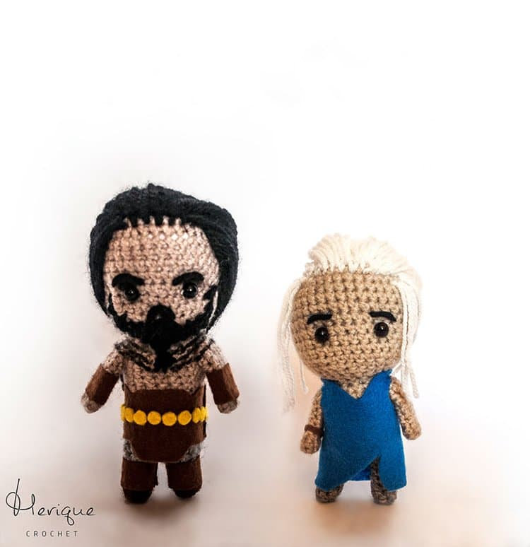 Cute-Crochet-Game-of-Thrones-Characters-by-Merique-Crochet-dany-and-khal-drogo