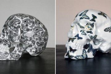 Decorated Porcelain Skulls