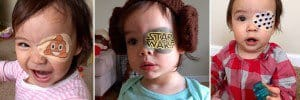 Father Makes Custom Eye Patches