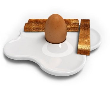 Fried Egg Cup And Plate