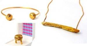 Gold Fast Food Jewelry