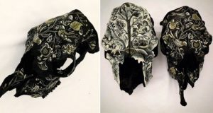 Jennifer French Embroidery-Style Patterns Cow Skulls