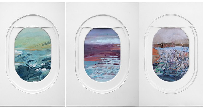 Jim Darling Paints Gorgeous Landscapes As Seen From Airplane Windows