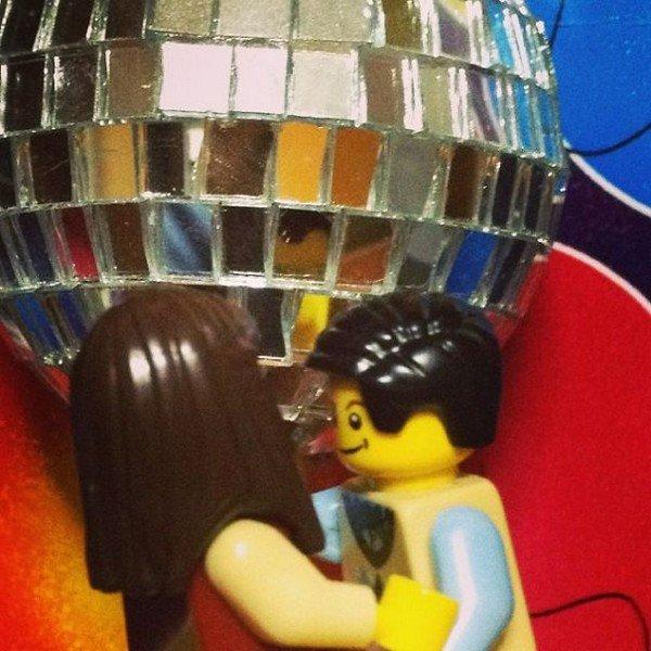 LEGO couple disco ball