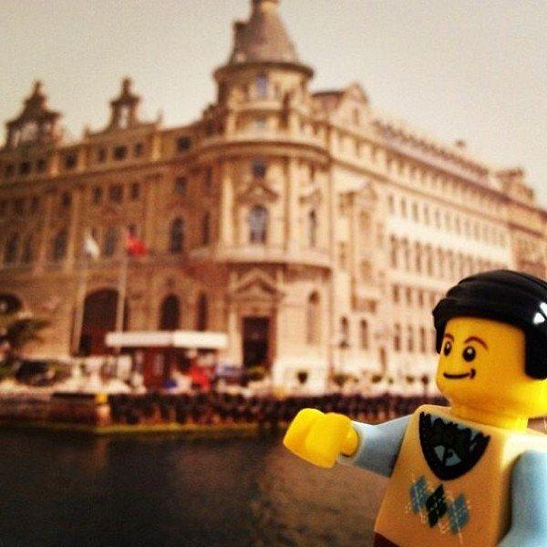 LEGO figure building water