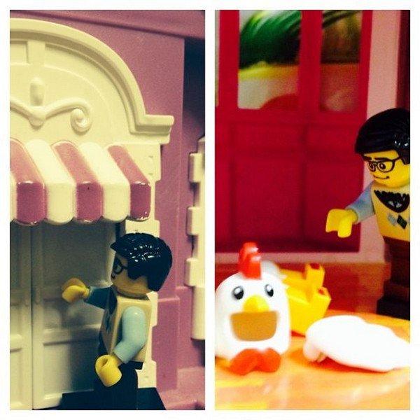 LEGO figure door