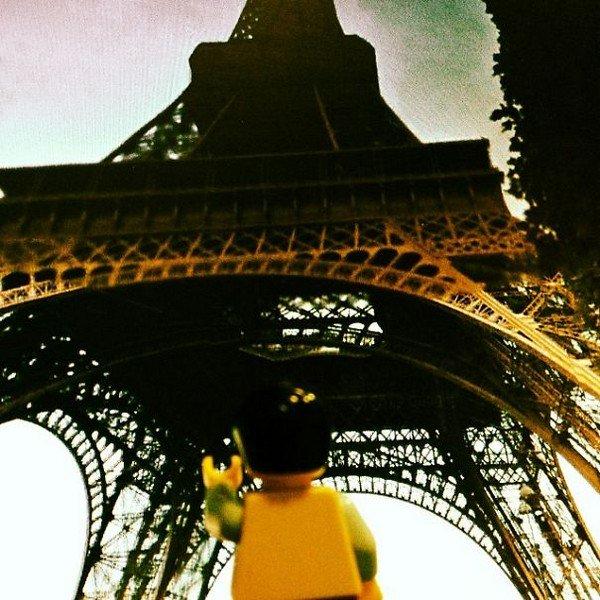 LEGO figure eiffel tower