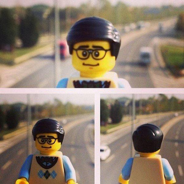 LEGO figure highway