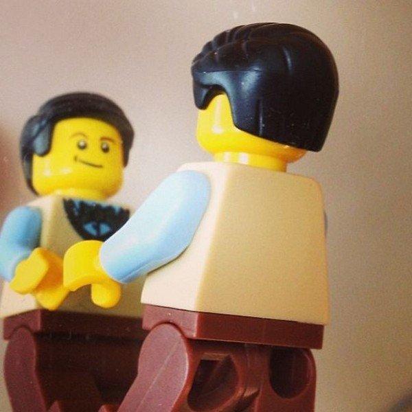 LEGO figure mirror