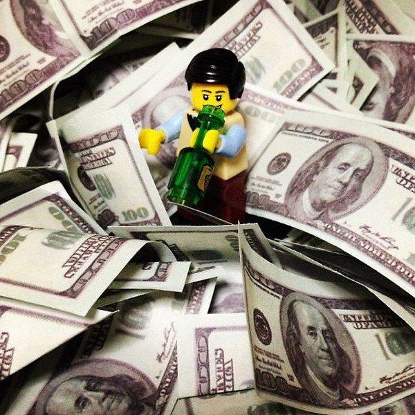 LEGO figure money
