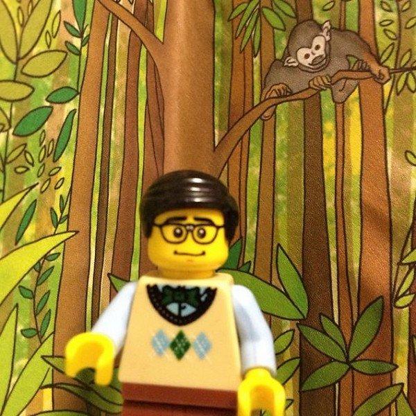 LEGO figure monkey tree