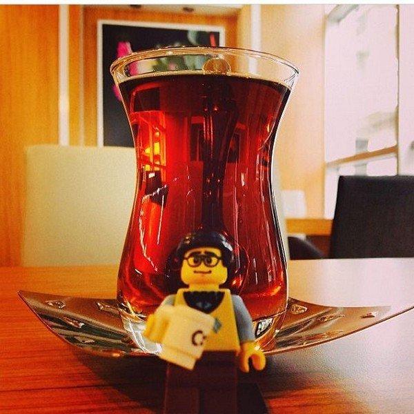 LEGO figure tea
