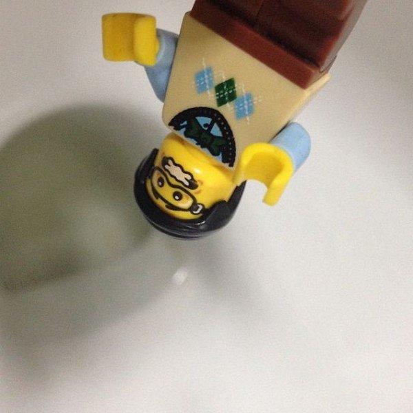 LEGO figure upside down