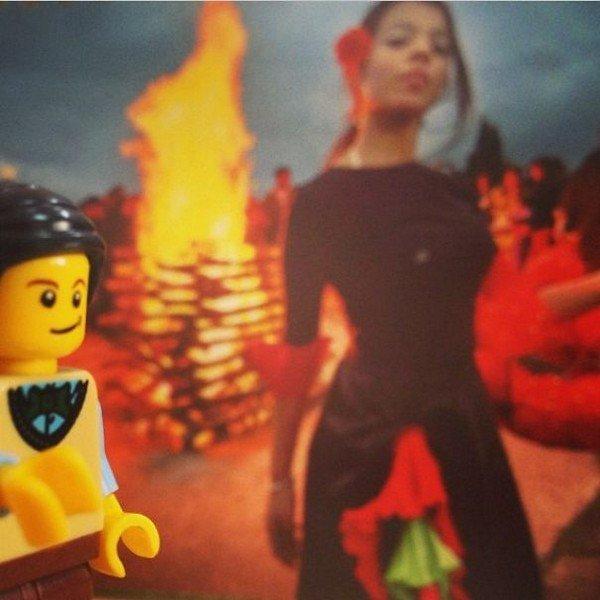 LEGO figure woman fire