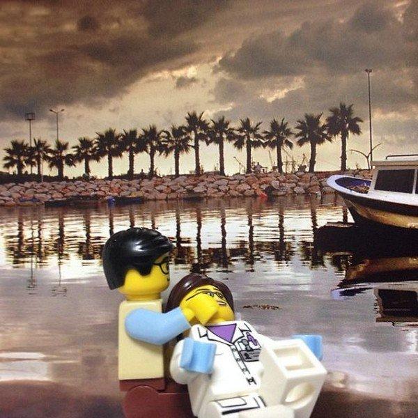 LEGO figures water