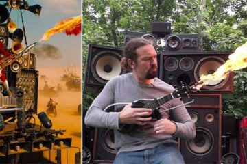 Mad Max-Inspired Flamethrower Ukulele
