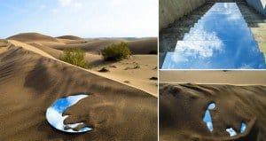 Mirror Installations On Iranian Pathways And Deserts