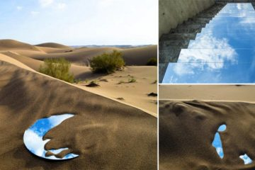 Mirror Installations On Iranian Pathways And Deserts