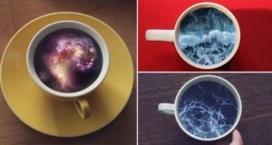 Oceans And Galaxies Coffee Cups