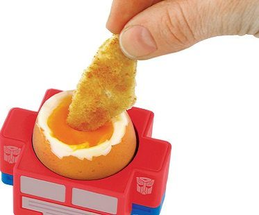 Optimus Prime Egg Cup And Toast Cutter boiled