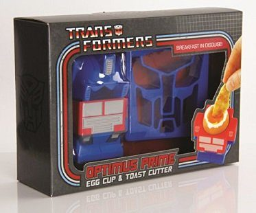 Optimus Prime Egg Cup And Toast Cutter boiled box