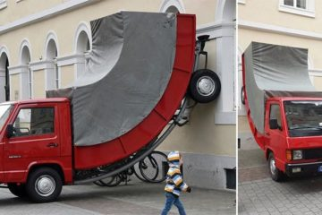 Parking Ticket On Art Installation Germany