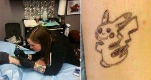 Pikachu Tattoo Cover Up