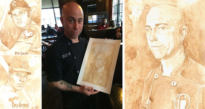 Portraits Using Beer