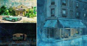 Postcard Type Illustrations Using Digital Watercolors