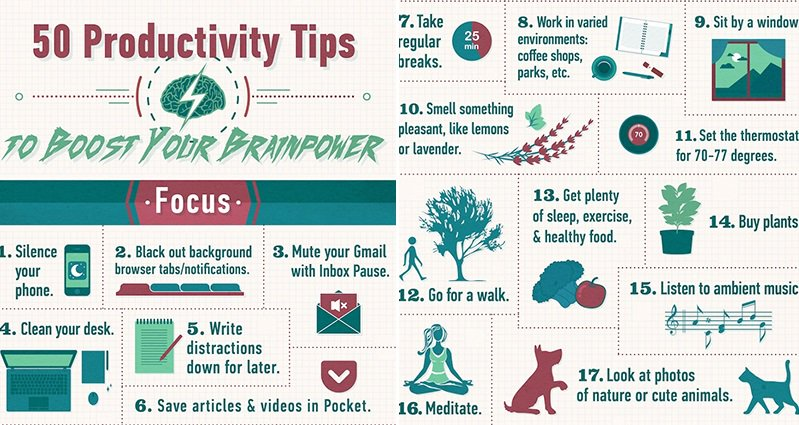 These 50 Productivity Tips Will Help Boost Your Brain Power