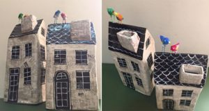 Quirky Paper Mache Houses