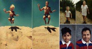 Subjects Recreate Old Photos