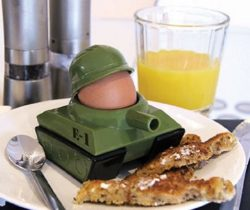 Tank Egg Cup And Soldier Toast Cutter