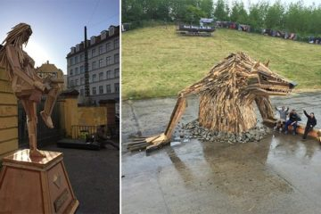 Thomas Dambo Giant Wood Sculptures
