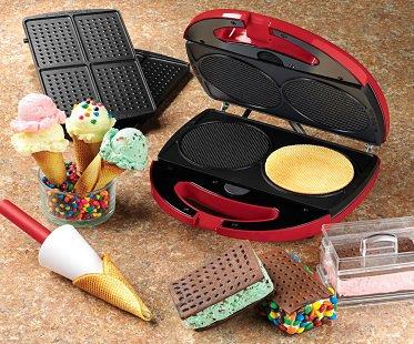 waffle cone and ice cream sandwich maker