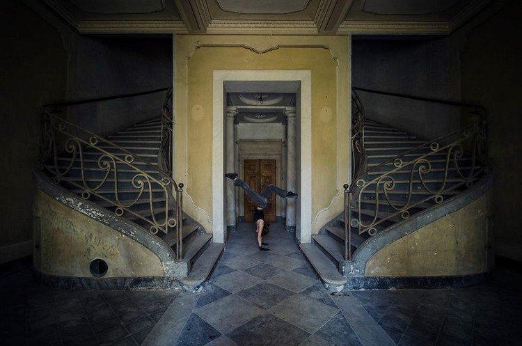 abandoned casino handstand