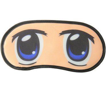 anime eyes sleep mask blue