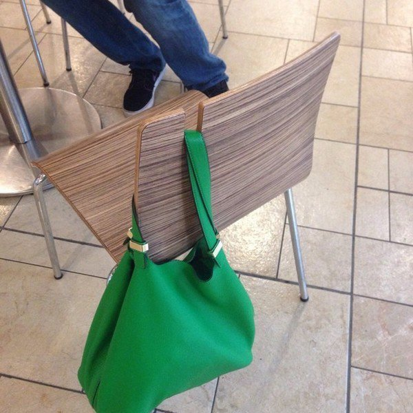 bag holding chair