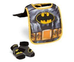 batman caped bib and booties