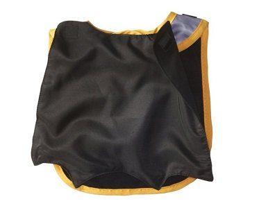 batman caped bib and booties black