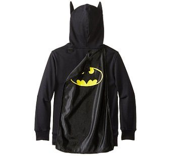 batman costume hoodie cape removable
