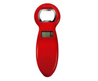 beer tracker bottle opener red