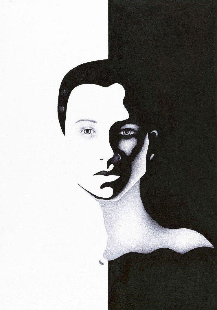 black white woman