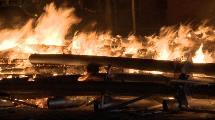 burning artwork