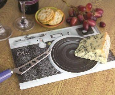 camera print cheeseboard