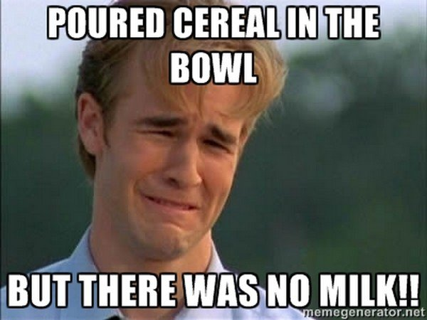 cereal man upset