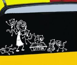 crazy cat lady car decals