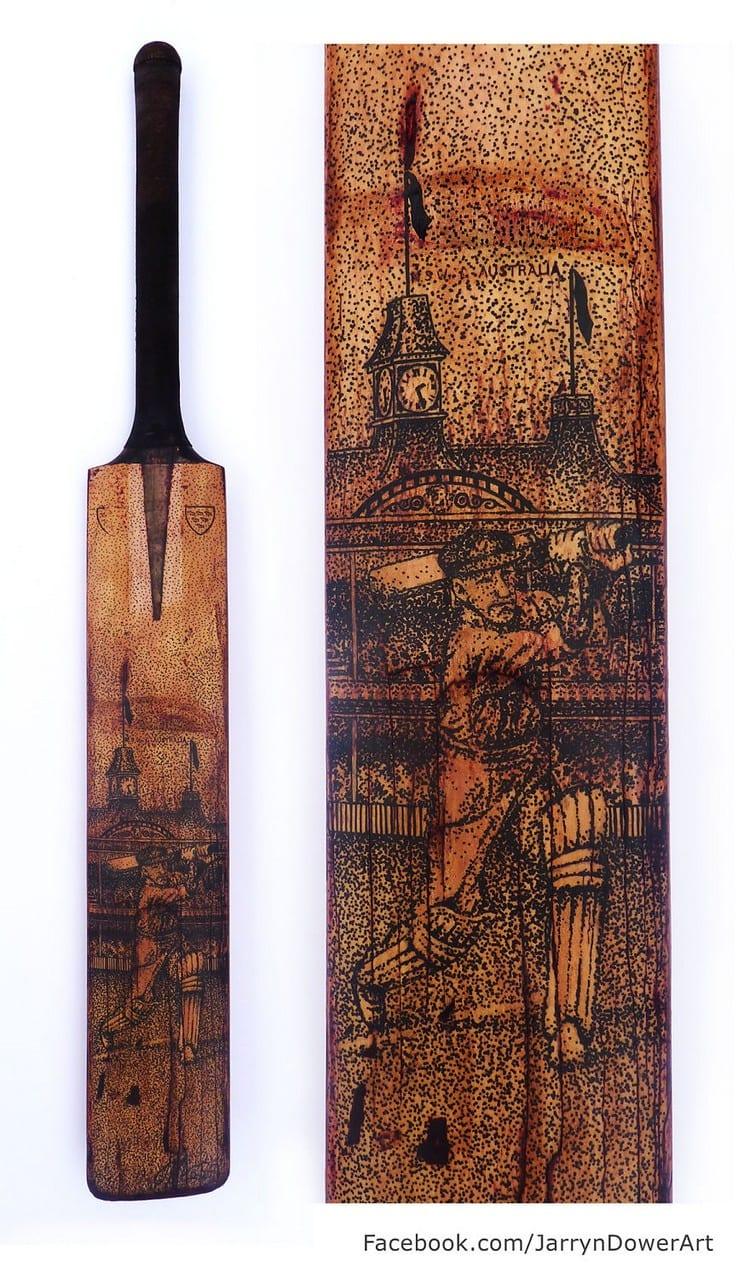 cricket bat art